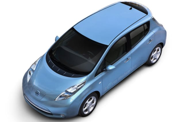 The Nissan Leaf will be available for a test drive at the Hudson Valley Hospital Center farmers' market.