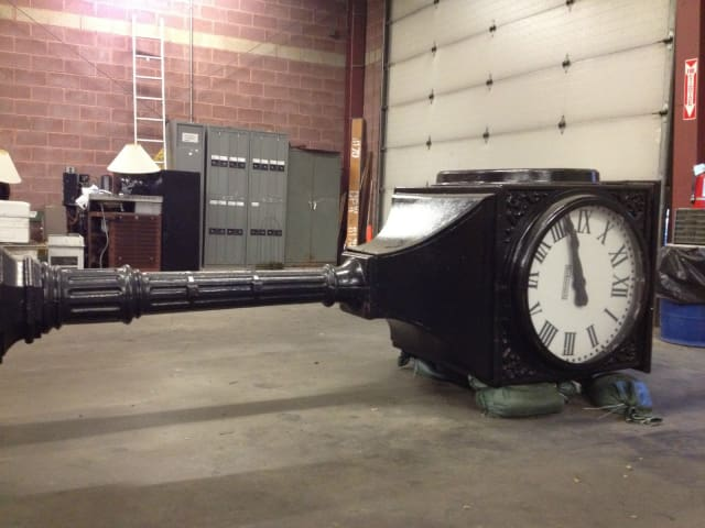 Yonker's eBay auctions are back and the lineup of surplus goods includes the old Getty Square clock.