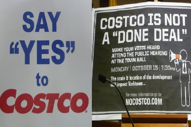 Supporting and opposing groups formed in Yorktown over the proposed Costco Wholesale Club.