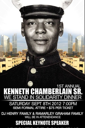 The Kenneth Chamberlain Sr. We Stand in Solidarity Dinner will be Dec. 1 at the Knights of Columbus, also known as the Mansion.