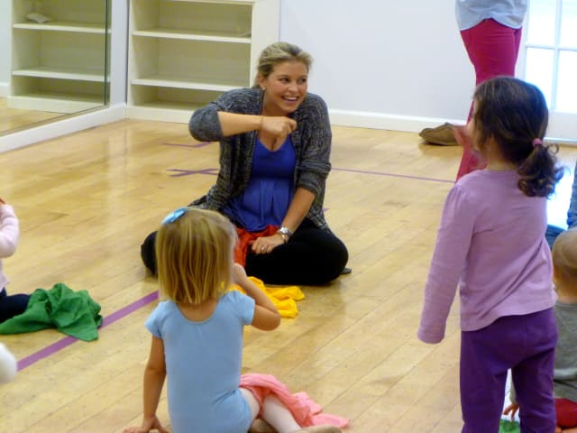 Kate Truesdell has her students repeat the dance moves during one song at the recently opened Greenwich Dance Studio Petite in Stamford.