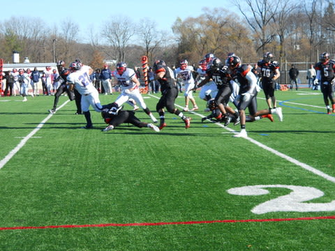 Stepinac (white) and White Plains will meet for the 42nd time in their Thanksgiving Day Turkey Bowl game.