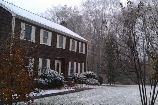 Parts of Fairfield County should get some snow from a storm passing through Tuesday.