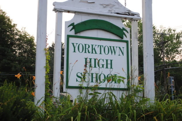 Yorktown High School will dismiss at 12:30 p.m. Tuesday.