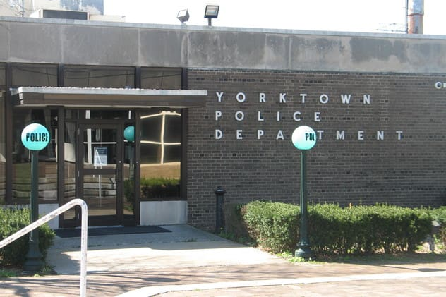 A Cortlandt Manor man has been charged by Yorktown Police with stealing from Lakeland Liquors.