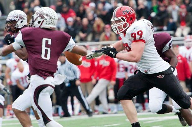 Connor Buck, a junior, is one of the promising young players returning to New Canaan's football team next year.