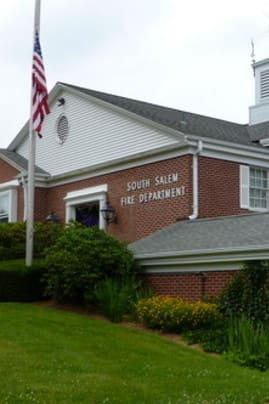 The South Salem firehouse, pictured, will be one of three polling places for the fire districts in Lewisboro having a fire commissioner election Tuesday.