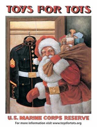 The area fire departments will collect toys for Toys for Tots at the town's three fire stations Dec. 15.