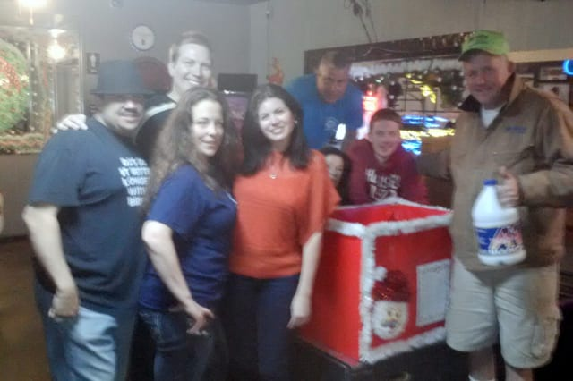 Habitat For Humanity raised money and supplies for Hurricane Sandy victims Saturday at Dudley's Parkview Restaurant in New Rochelle.