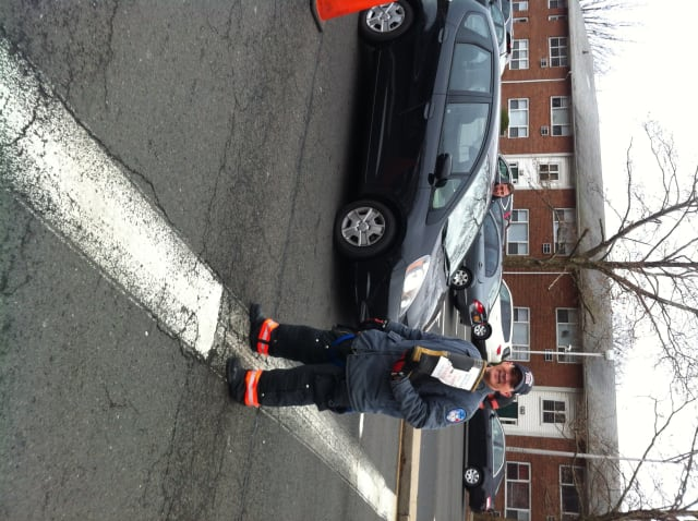 """Yonkers firefighters raised nearly $40,000 this weekend in their annual """"Fill the Boot"""" drive."""