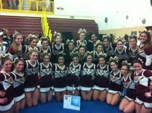 The Harrison varsity cheerleading squad qualified for the Nationals competition in Orlando, Fla., from Feb 10 through 12.