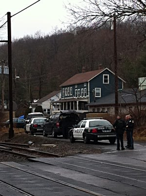 Police from neighboring towns assisted the Ridgefield Police  Department in their search for a man after Ridgefield schools were locked diown.