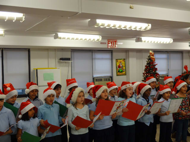 Students from Yonkers' Montessori School 31 caroled Tuesday for senior citizens to help spread holiday cheer before Christmas.