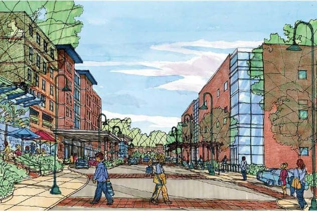 An artists rendering of the proposed Rivertowns Square development.