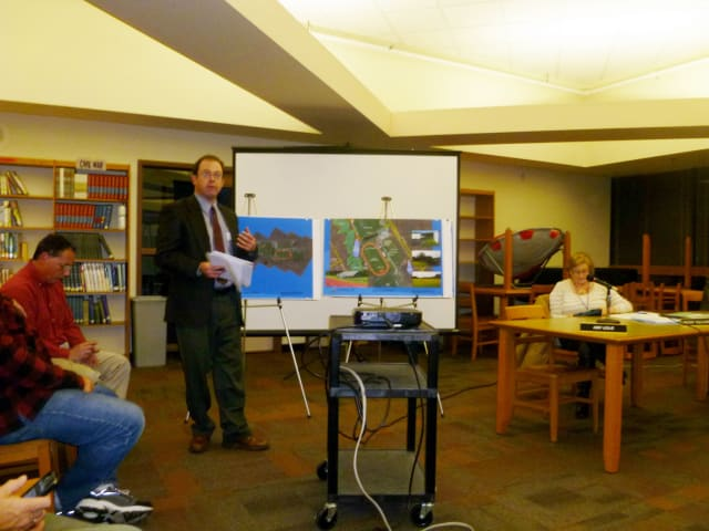 Eric Roise, Gale Associates project manager, discussed Barlow field improvements.