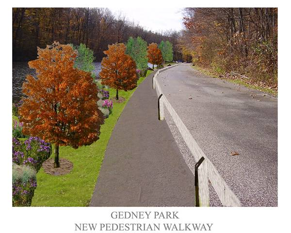 A new pedestrian walkway alongside Gedney Park is one of several things scheduled for Chappaqua in 2013.