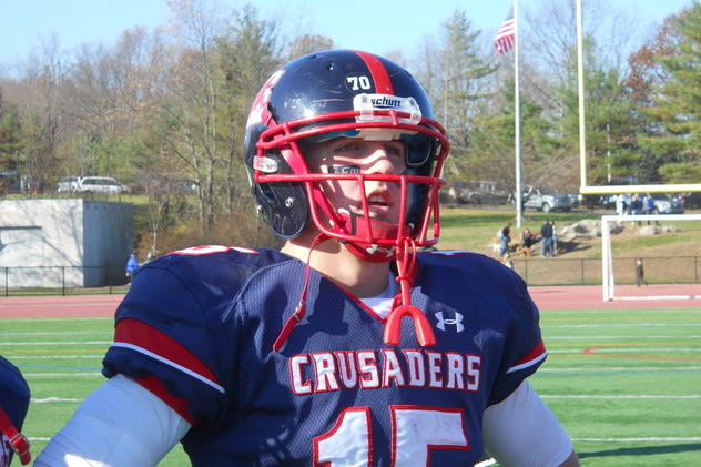 Danny Hoffer of Yonkers, the Archbishop Stepinac quarterback, is considering Wagner College.