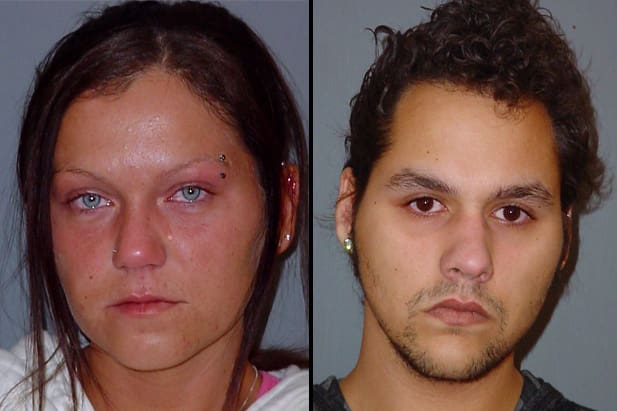 Aleksandra Halerz (left) of Somers and Chappaqua's Joseph Watts were charged Tuesday with heroin possession.