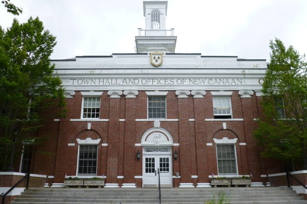 The New Canaan Board of Selectmen approved the Department of Public Works' request to sign a contract with an environmental firm that will lay out a plan to clear the building of asbestos, lead paint and other materials.