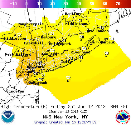 The weekend will be unseasonably warm across Westchester County, according to the National Weather Service.