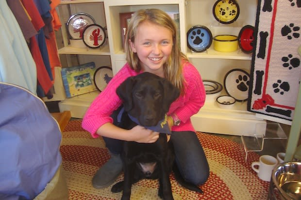 Darien sixth-grader Cailey Martin is training her puppy Sadie to be a service dog.