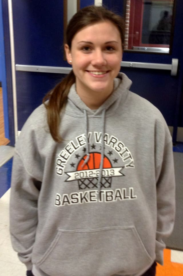 Horace Greeley High School girls' basketball star Jackie Brett scored her 1,000th career point and has a chance to break the all-time school record of 1,143.