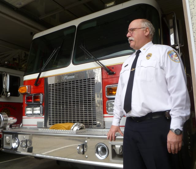New Canaan Fire Assistant Chief John Hennessey says he's happy that the department is responding to fewer false alarms.