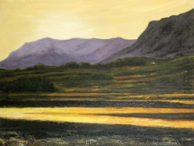 'Sligo's Mountain in Ireland', an oil painting by Bridgeport artist Kaz Oda is one of 138 works by 69 artists on display at the Easton Arts Council's Annual Member Show.