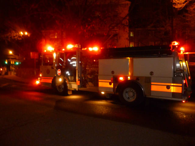 Norwalk firefighters responded to a small apartment fire at the Roodner Court housing complex on Ely Avenue Thursday night.