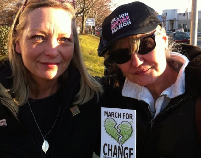 Donna Dees Thomases and Linda Payne DiSarro, who founded the One Million Mom March following the Columbine shooting, are also members of One Million Moms For Gun Control.