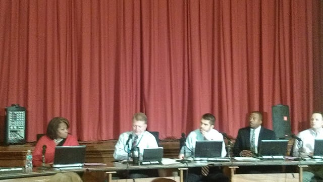 Peekskill Schools Superintendent James Willis and school board members briefly addressed the district's transcript scandal at Tuesday's Board of Education meeting.