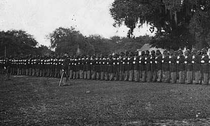 The 29th Regiment, from Connecticut, included freed slaves who fought in the Civil War.