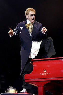 Faust Harrison Pianos will host a live stream of Elton John's performance at Disneyland's Hyperion Theater in Anaheim, Calif.