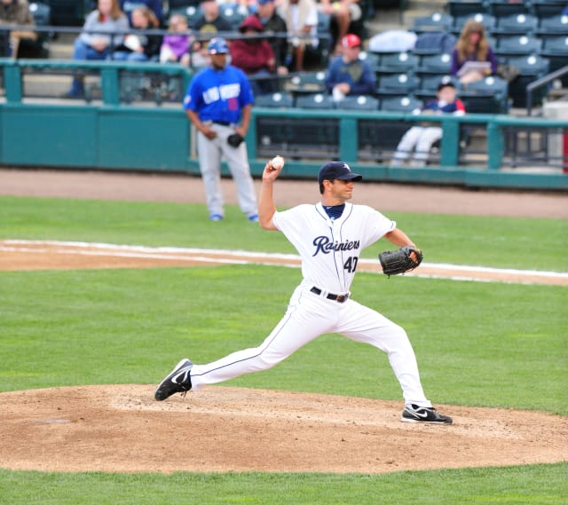 Yonkers' Brian Sweeney, seen here in 2012 with the Tacoma Rainiers, will pitch for Italy in the 2013 World Baseball Classic in March.
