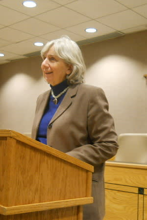 New Castle Town Supervisor Susan Carpenter will introduce County Executive Rob Astorino in Town Hall at 7 p.m., Tuesday.