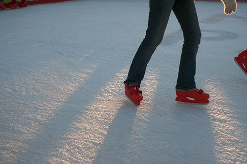 Ice skaters in New Rochelle will have to wait until ponds and lakes freeze up again before taking to the ice.
