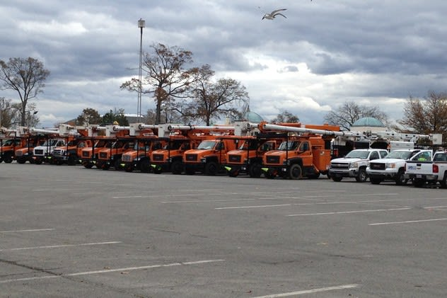 Con Edison needed to call in crews from around the country to assist it following Hurricane Sandy.