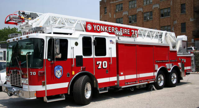 Yonkers firefighters saved a small boy from choking Saturday.