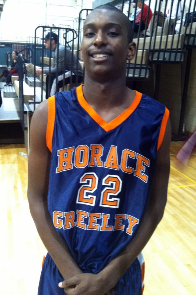 Harrison Brown and the Horace Greeley High School boys' basketball team will face Byram Hills on Monday.