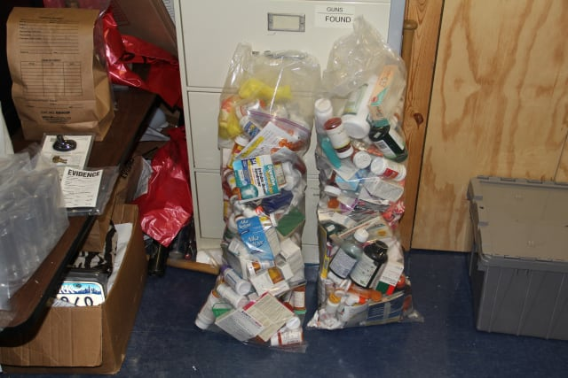 Village of Ossining Police recently collected several pounds of prescription drugs from the community's prescription drug take-back bin at the police facility.