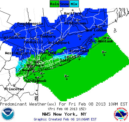 Snow is being predicted for Thursday night through Friday by the National Weather Service.