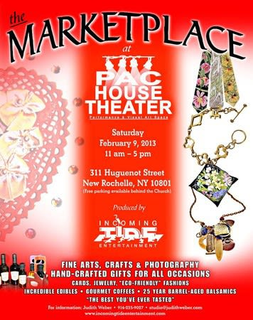 The Marketplace at Parish House Performing Arts Center will present craftsmen, artists and food purveyors.
