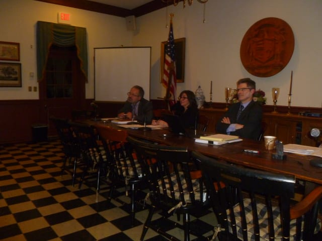 Weston Selectmen David Muller, Gayle Weinstein and Dennis Tracey reviewed proposed changes to the town's firearms ordinance Thursday night.