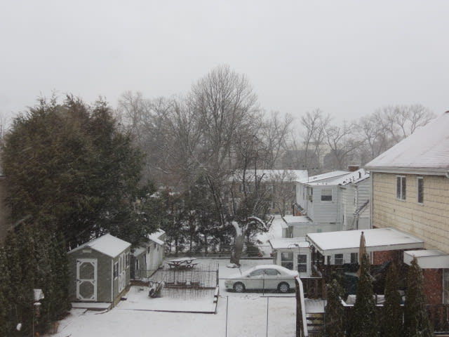Snow started accumulating throughout Westchester County Friday morning.