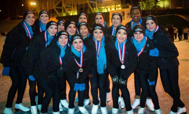 The Novice team of the Skyliners Synchronized Skating team finished second at the recent Eastern Championships.