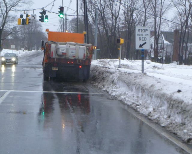 New Canaan roads are all clear after the big blizzard last weekend.