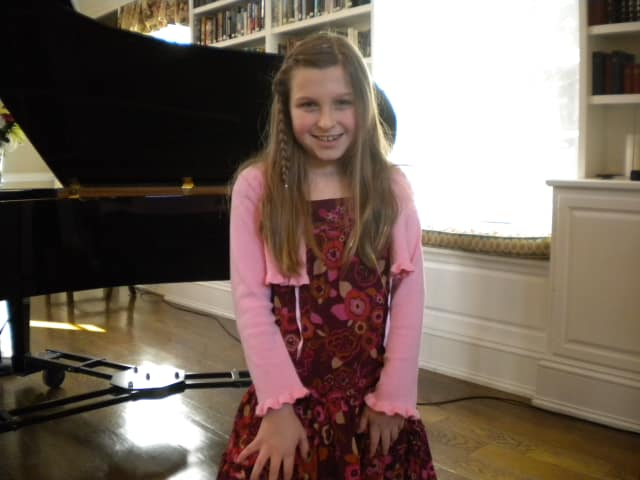 Nine-year-old Chappaqua resident Erica Lauren Dunne won a 2012 Certificate of Excellence from the Royal Conservatory Music Development Program for her performance on the piano.