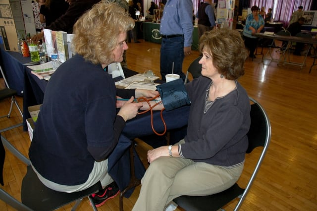 You can get a free blood-pressure screening at the Grinton I. Will Library and the Peter Chema Community Center on Wednesday.