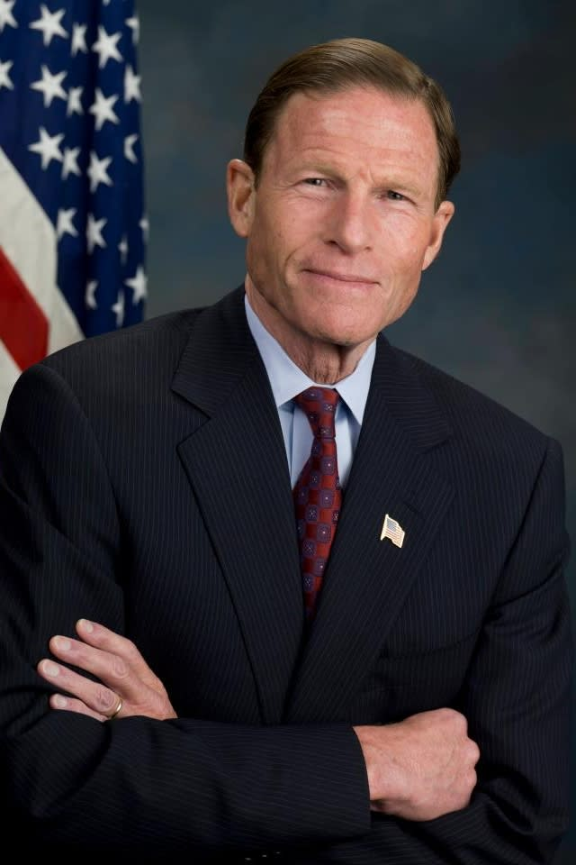 """Connecticut Senator Richard Blumenthal shared the No. 1 spot on the list of """"Most Liberal Senators"""" after his second year in Washington, according to the National Journal."""