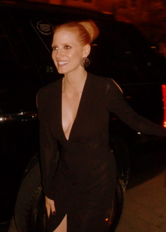 """Jessica Chastain has been nominated for an Academy Award for best actress in the movie """"Zero Dark Thirty."""" But will she win any awards for her outfit on the red carpet Sunday night?"""